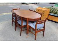 SOLID WOOD EXTENDABLE DINING TABLE WITH 6 CHAIRS + FREE DELIVERY