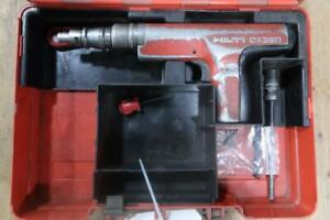 HILTI DX 350 Powder Actuated Nail Gun Tool W/ Case