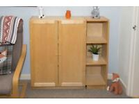 Ikea Wooden Billy Cabinet & Shelve