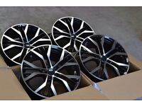 "17"" VW SANTIAGO STYLE ALLOYS WHEELS 5X100 A1 S1 POLO GTI OLD VW AUDI SEAT MK1 TT MK4 GOLF LEON"