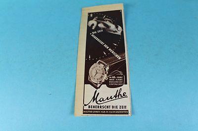 Werbung / Reklame - Original 1953 - Mauthe Uhren beherrschen die Zeit ...  /S83