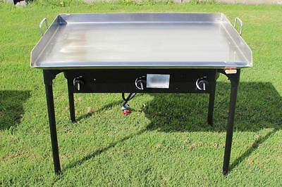 Concord 36 X 22 Stainless Steel Flat Top Griddle Grill W Triple Burner Stove