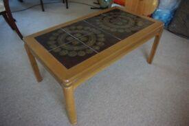 1970's Tile Top Coffee Table