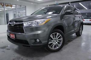 2015 Toyota Highlander XLE, NAV, ALLOYS, ONE ONWER, NO ACCIDENT,