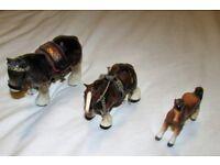 Set of 3 China Horse Ornaments