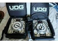 2 x Denon DN-S3500 DJ CD Decks Turntables