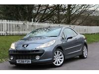 PEUGEOT 207 1.6 GT COUPE CABRIOLET 2d 148 BHP RAC WARRANTY + BREAKDOWN COVER!! (grey) 2008