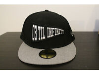 "BRAND NEW 59FIFTY New Era Cap King Apparel ""03 Till Infinity"" - grey & black with sticker"