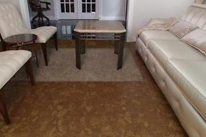 Bevel Edge Autumn Ripple Cork Flooring On Sale, Keeping Home Clean, Safe, Alternative To Carpets, Easy Installation