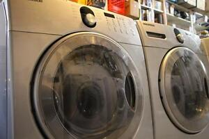 Front load stackable washer and dryer laundry sets