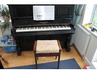 Collard & Collard upright piano and stool.