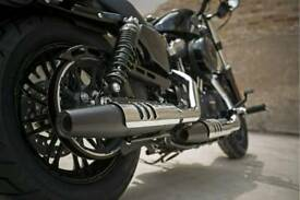 Harley davidson forty eight stock exhausts