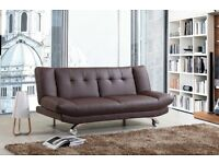 NEW MONROE LEATHER SOFA BED ONLY £179 RRP £350