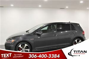 2015 Volkswagen Golf GTI 6 spd manual|Bluetooth|Leather|Nav|Cam
