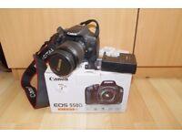 Canon DSLR EOS 550D + EFS 18-55mm + 2 batteries + charger + bundle. Less than 5k photos