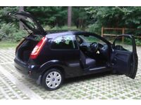 Black 07 REG Fiesta 1.2 Style Climate Zetec 3 Door, New MOT, Service History (Facelift Model)