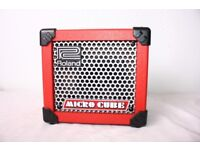 ROLAND MICRO CUBE AMP in Red - mint condition £42