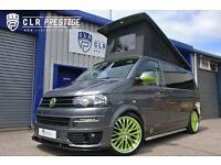 2014 SWB VW TRANSPORTER SPORTLINE T5 POP TOP CAMPER VAN 4 BERTH ELECTRIC BED
