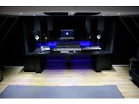 Large professional recording studio desk