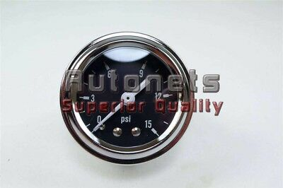 Black Chrome Fuel oil Pressure Gauge 1.5