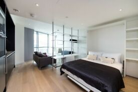 Studio Apartment in Charrington Tower,£1350PCM Excluding Bills,33rd Floor,Gym, Canary Wharf E14 - SA