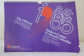 HALLEY'S COMET 15 MONTH CALENDAR FOR 1985 and 1986