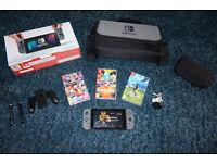Nintendo Swich with Games and Accessories including rare Zelda Amiibo