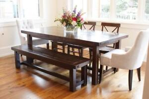 Locally Crafted Furniture: Solid Reclaimed Wood Provençal Dining Table and More By LIKEN Woodworks