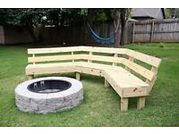 Water feature/Firepit bench