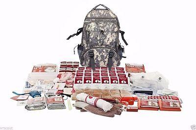 2 Person 72 Hour Elite Bug Out Bag Emergency Survival Disaster Backpack Kit New