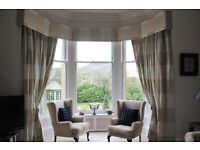 Silk curtains to suit large window