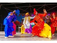 Bhangra Dancers for hire, Dhol Drummers for hire and Djs for hire! (All UK)