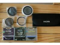 Set of filters brand Hoya for DSLR cameras diameter 58 and 52 mm