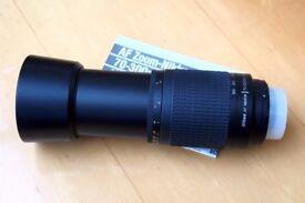 NIKON AF NIKKOR 70--300mm F4-5.6G DIGITAL LENS + HOOD + BOTH CAPS