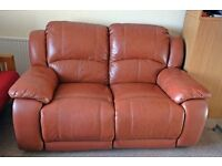 Leather Reclining 2-Seater Sofa from Harveys Good Condition No Offers