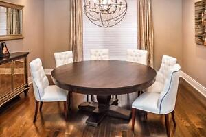 Round Kitchen Or Dining Solid Wood Table