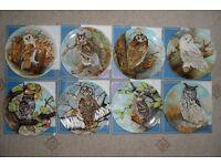 Coalport Michael Sawdy Owl Plates