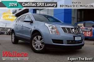2014 Cadillac SRX LUXURY/1-OWNER/AWD/MOONROOF/HTD SEATS/REAR CAM
