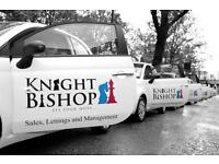 Knight Bishop Require a full time Lettings/Sales Negotiator for our Hackney Office