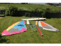 BIC Melody Windsurfer with 2 Sails, Mast & Boom