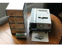 Projector, 35 mm slide - Leitz Pradolux - with 8 extra slide trays