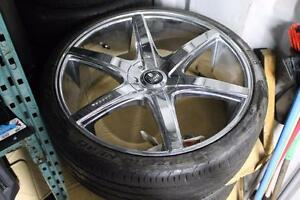 "Mercedes-Benz G-Wagon DUBS Rims + Tires 24"" Chrome"