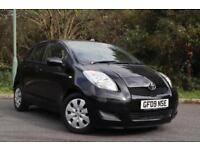 2009 Toyota Yaris TR 1.3 Petrol AUTOMATIC Gearbox black 93k fsh 2 prev owner hpi clear £20 Road Tax!