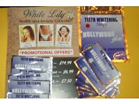 Hollywood Glow Teeth Whitening Strips ( Non-peroxide ) 50p Each Free Local Delivery.