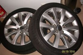 Two Original VW Alloys with tyre 225/45/17