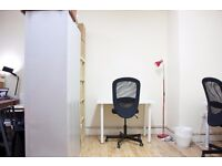 Bright semi open office space / self contained office in shared Warehouse Studio