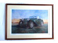 1948 MG TC LIMITED EDITION PRINT by G A WARBURTON