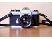 Pentax ASAHI Spotmatic SPii film camera + 4 lenses