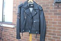 Motorcycle Jacket - GUESS (Jeans) - Real Leather