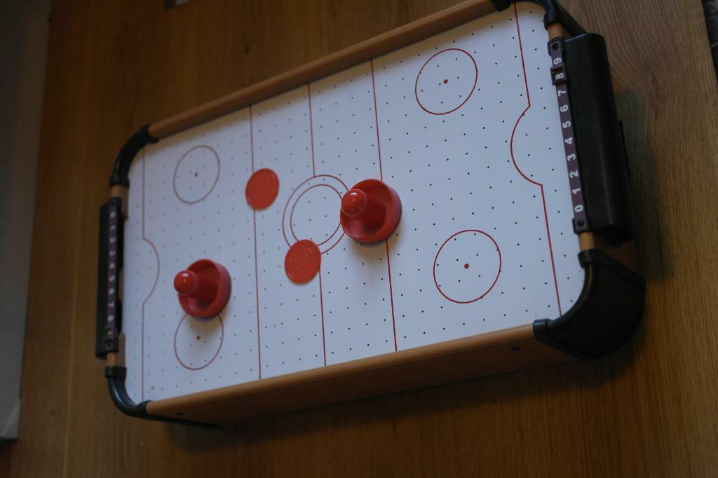 Unboxed Desktop Air Hockey